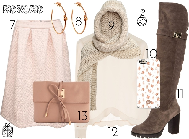 outfit inspiration winter pastels cosy overknee look