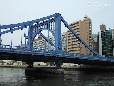 Tokyo through a bridge - Sumida river cruise, Tokyo