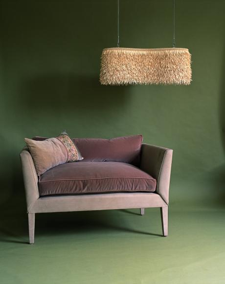 ochre sofa