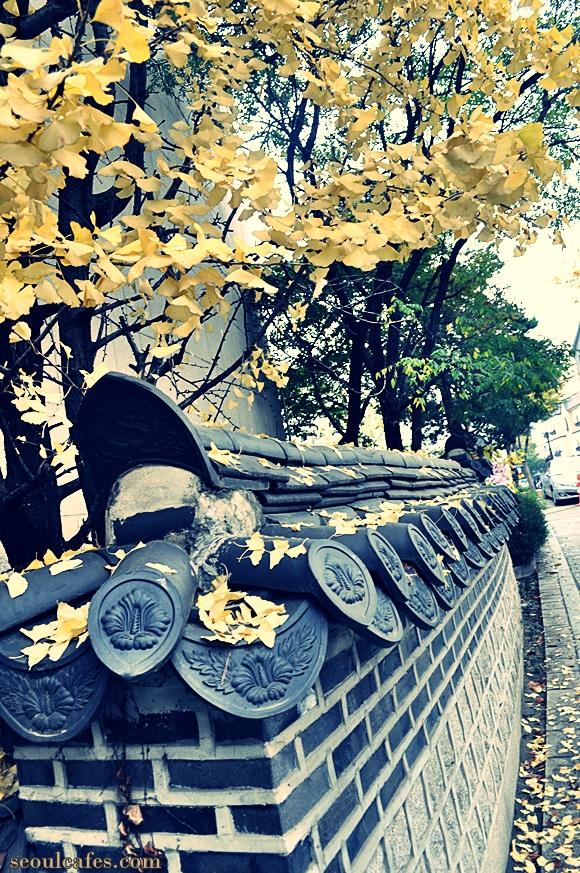 samcheongdong seoul korea fall foliage streets