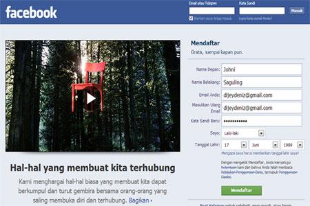 Tutorial Cara Membuat Facebook baru