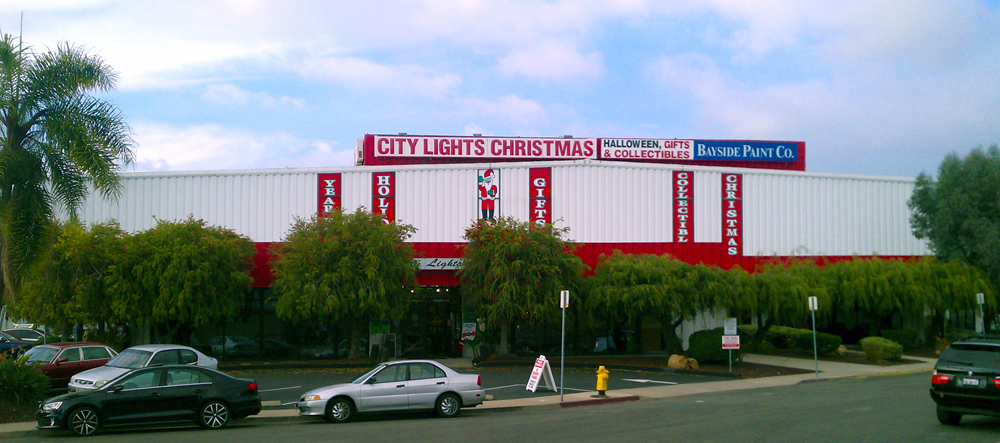 so what did i do to mark this dubious occasion today i stopped into our san diego mega christmas store city lights to see what was