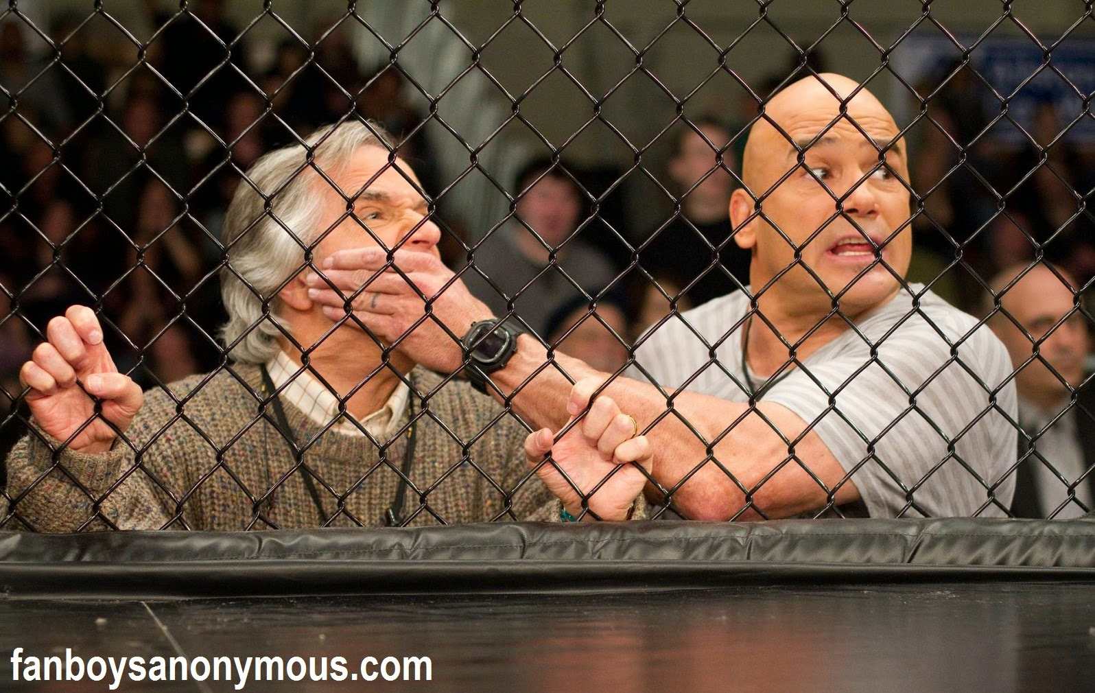 Dutch retired MMA champion Bas Rutten acting as coach in Kevin James MMA comedy