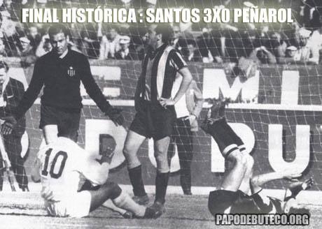 jogo histórico entre Santos e Peñarol em 1962