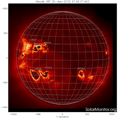 manchas solares 03 de Julio 2012