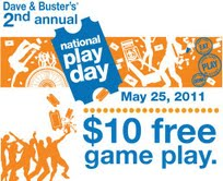 Denver mommy may 2011 busters declared may 25th national play day they are celebrating this year by giving 10 in free game play to everyone just go here to get a coupon fandeluxe Gallery