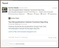 Membuat Link Blog di Twitter ada Ringkasannya