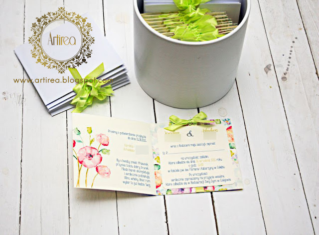 nietypowe zaproszenia ślubne limonka Artirea