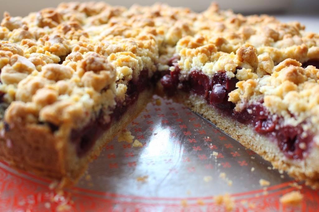 Kirsch-Streusel-Kuchen, kostenloses Rezept von wollzeitmama
