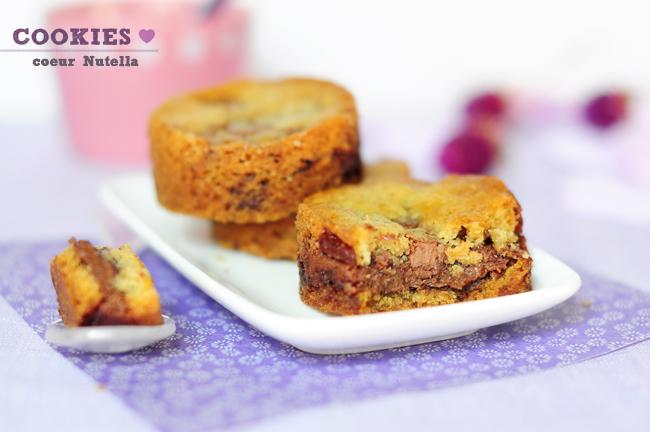 cookies chocolat au lait coeur de nutella la petite douceur du 4 heures stephatable. Black Bedroom Furniture Sets. Home Design Ideas