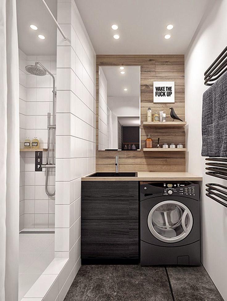 Lavanderia banheiro juntos : Arquitetando ideias lavanderia e banheiro juntos como