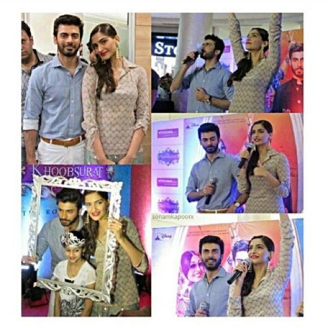 Sonam Kapoor & Fawad Khan promote 'Khoobsurat' at Viviana Mall