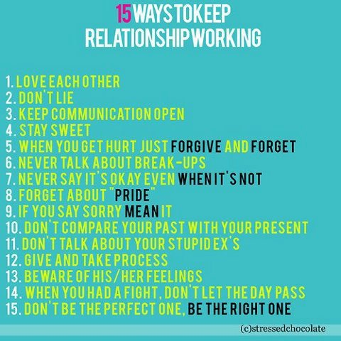 Things To Do When Your In A Relationship