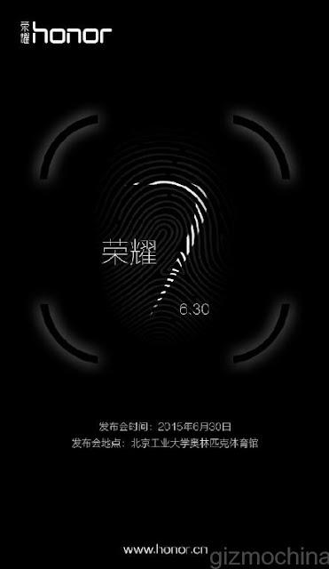 Huawei Honor 7 akan resmi diperkenalkan tanggal 30 Juni, dibekali sensor sidik jari