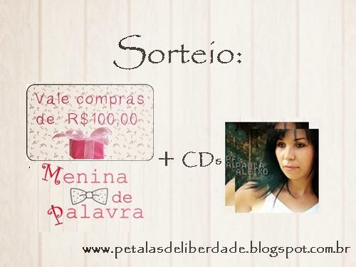 sorteio vale compras, cds, Paula Aleixo, cantora
