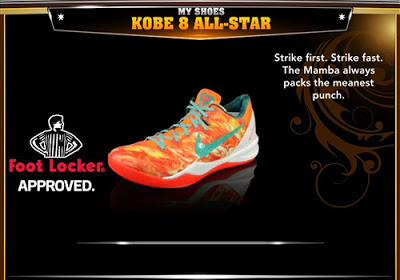 NBA 2K13 Nike Kobe 8 System All-Star Colorways Shoes