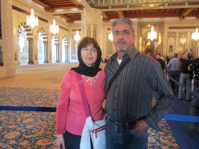 nella moschea a Muscat