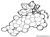 Grape Coloring Pages Realistic