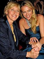 A apresentadora Ellen DeGeneres e a esposa, Portia de Rossi