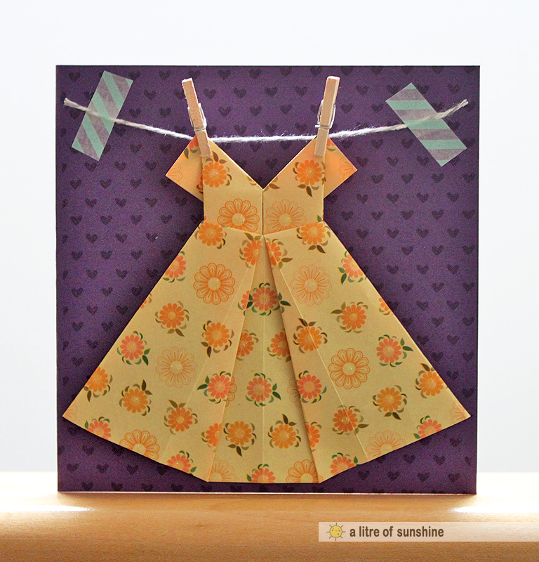 a litre of sunshine mothers day origami dress