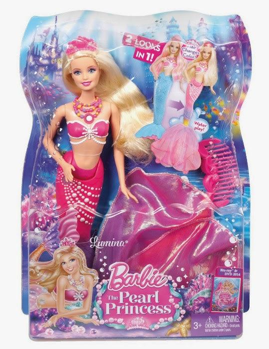 JUGUETES - BARBIE La Princesa de las Perlas  Muñeca Lumina | Barbie The Pearl Princess  Toys | Producto Oficial | Mattel BDB45 | A partir de 3 años