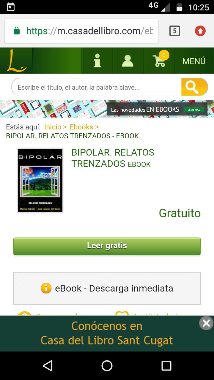 Ebook: Bipolar. Relatos trenzados.