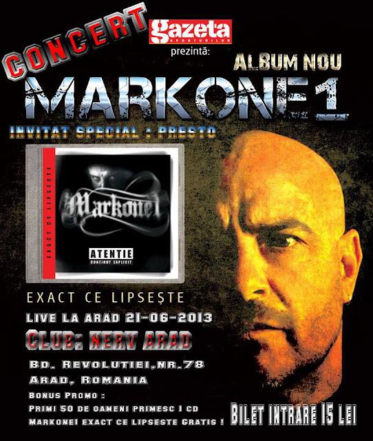 Concert MarkOne1 – Exact ce lipsește – Club Nerv (Arad)