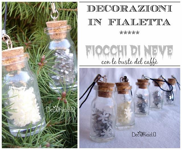 Fiocchi Di Neve Di Carta Da Ritagliare Tutorial : Decoriciclo decorazioni in fialetta i fiocchi di neve fatti con