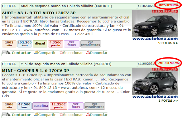La fuente de ingresos de milanuncios la auto renovaci n for Poner anuncio en milanuncios
