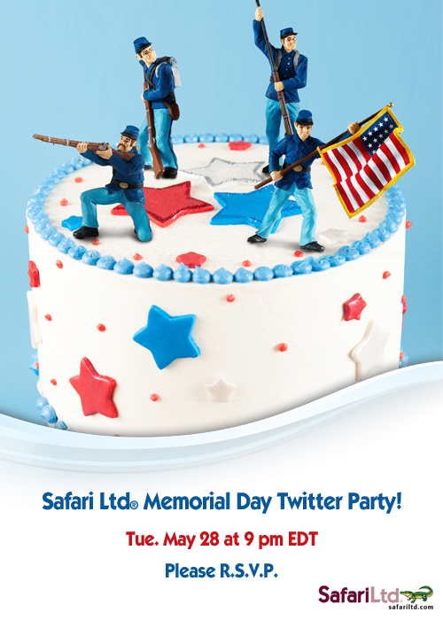 Safari Ltd. Memorial Day Twitter Party