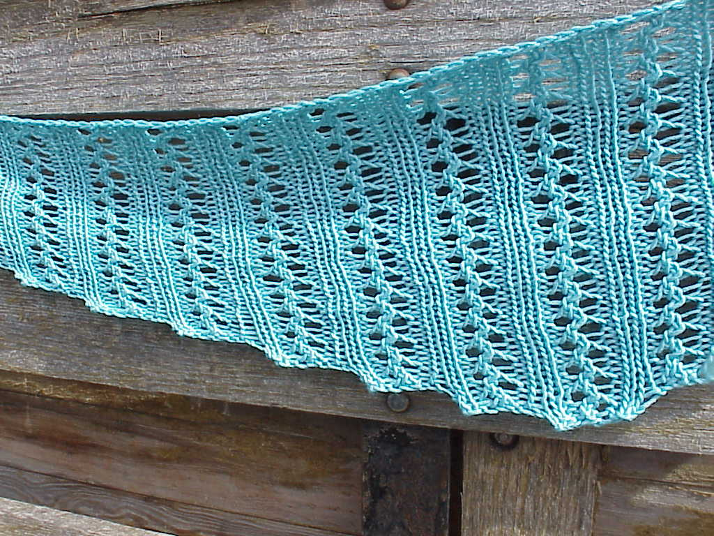 Knitting Lace Patterns Free : Kriskrafter: Free Knitting Pattern! Wiggle Lace Scarf
