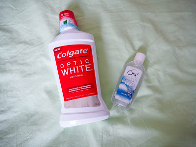Colgate Optic White Mouthwash & Ora2 Snow Mint Mouthwash