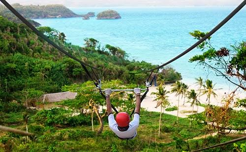 Ziplining in Boracay, Philippines