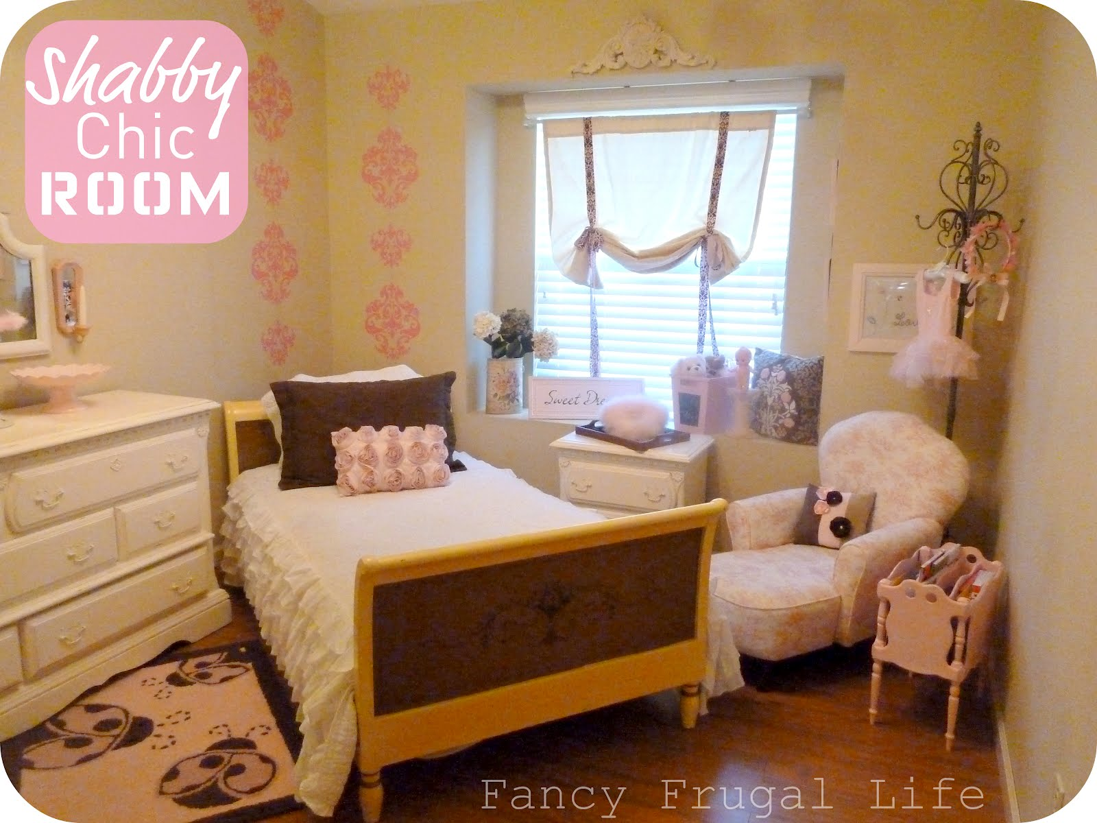 my girl s shabby chic glam room revisited. Black Bedroom Furniture Sets. Home Design Ideas