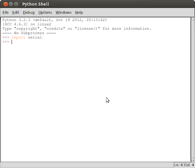 pySerial installed