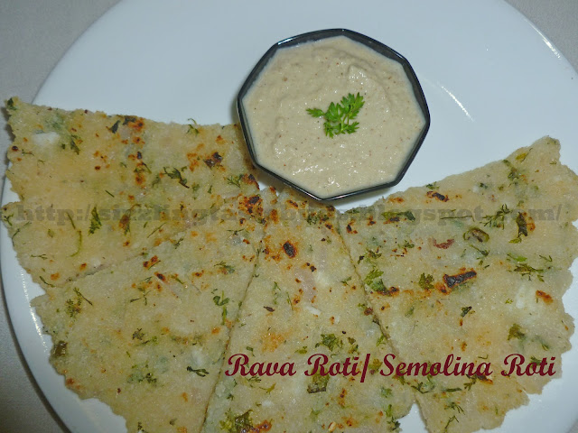 Rava Roti with Coconut Chutney