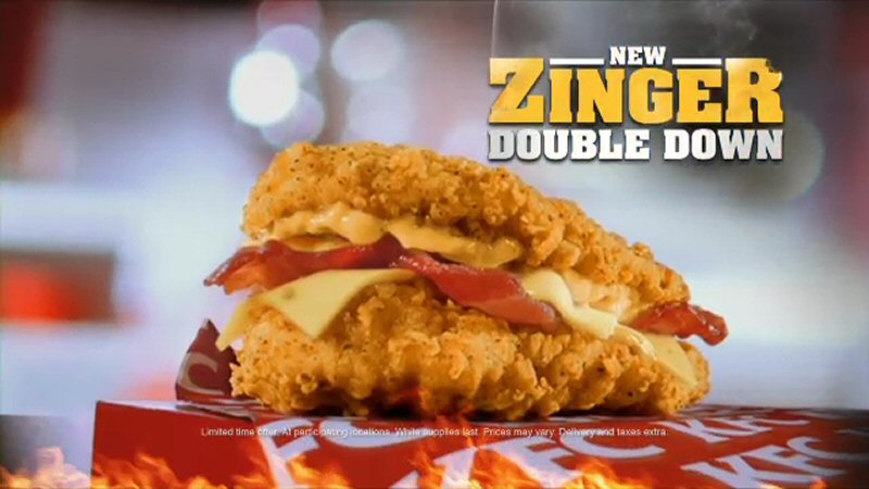 The Zinger Double Down Max features two hot and crispy Zinger fillets    Zinger Double Down