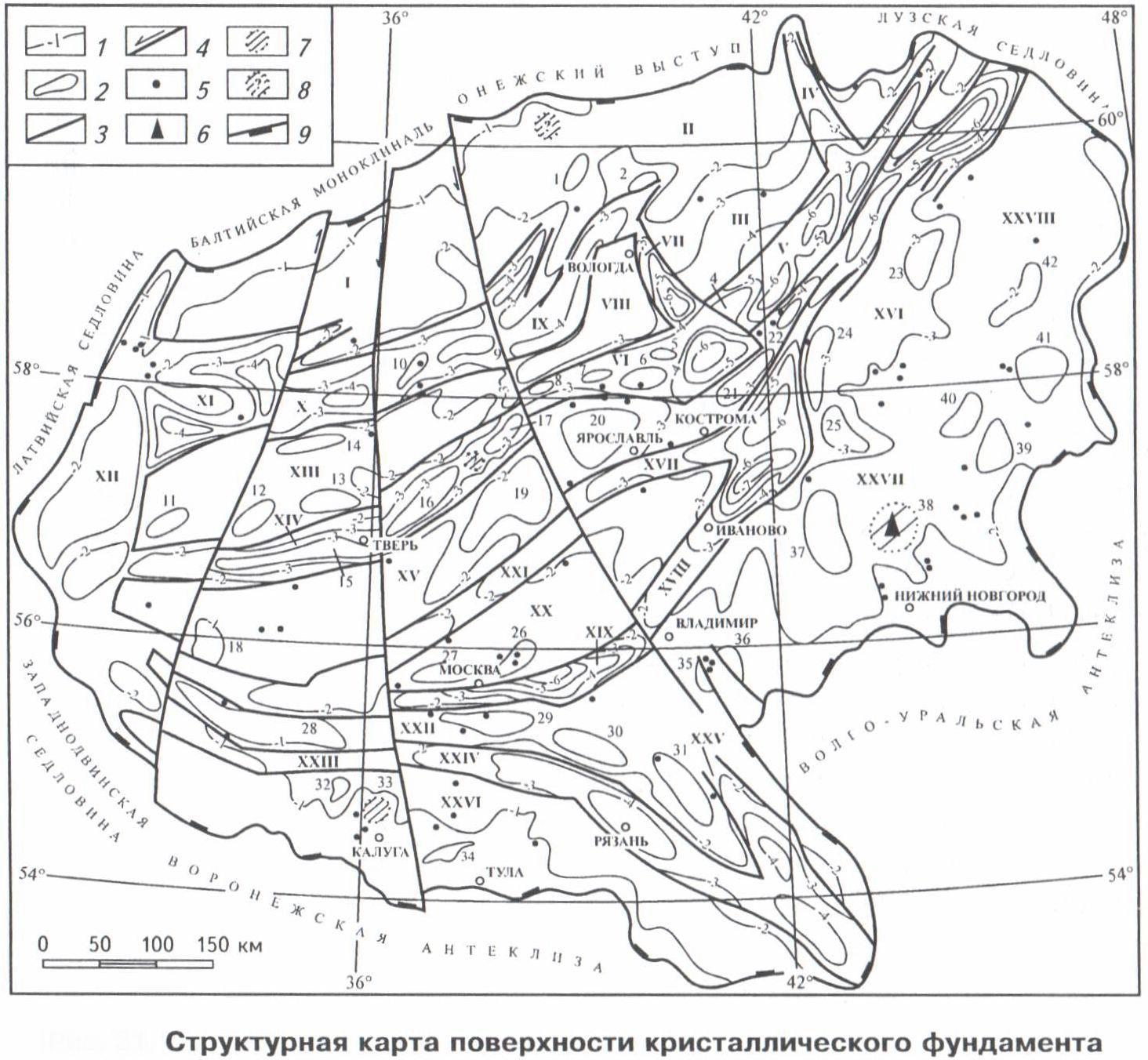 Эффективная геофизика Московская синеклиза Краткий отчёт о  Рис 1 Московская синеклиза