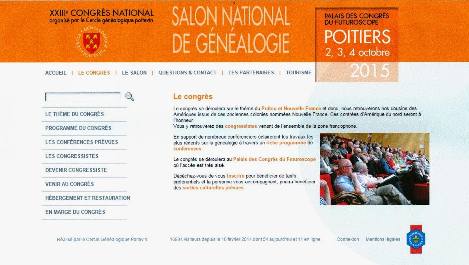 XXIIIe Congrés National de Généalogie de Poitiers