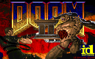 Doom 2 title screen dos