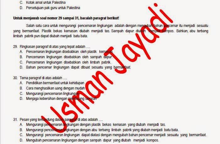 Download Gratis Prediksi Soal Us Bahasa Indonesia Sd Mi