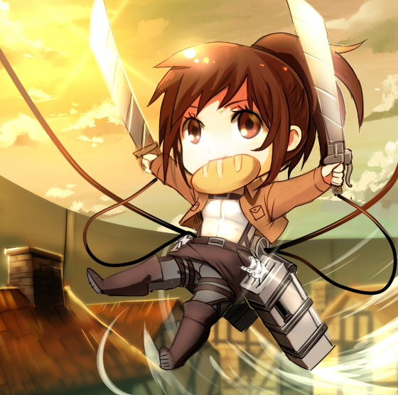 Attack on Titans,chibis,anime cute