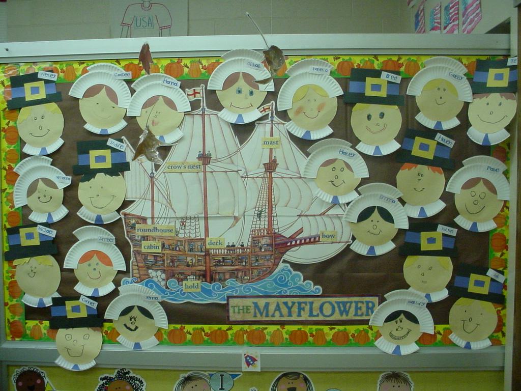 Classroom Ideas For November ~ Diary of a first grade teacher paperplate pilgrims
