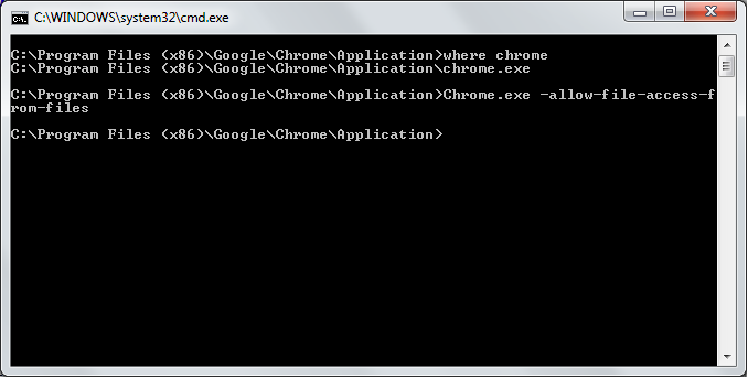 Cmd Prompt chrome.exe