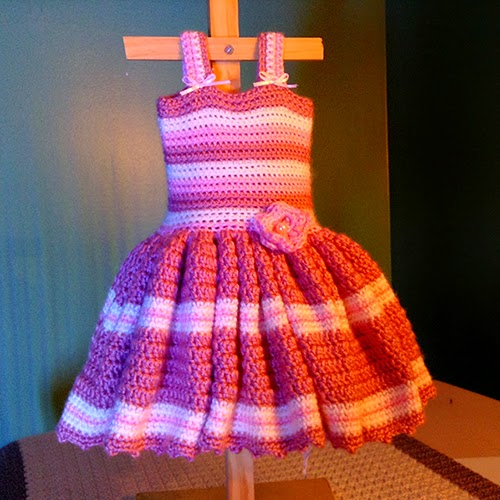 Pink Stripe Dress for little Girls
