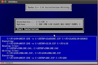 start installation
