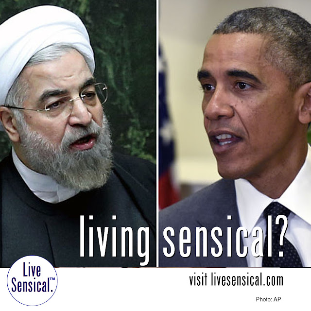 "Iran Deal sold the world away for what? Never can livesensical.com  Hassan Rouhan & Barack Hussein Obama: a pair of ""tell them what they want to hear"" politicians. Mark Twain said (something like), ""Policiticians and babies should be changed often - and for the same reasons."""