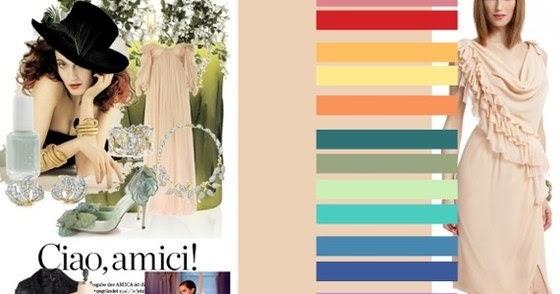 Сочетание цветов в одежде с коричневым цветом 126