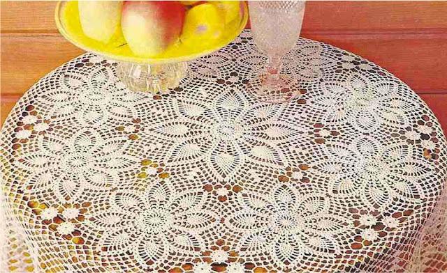 9 Manteles a Crochet para lucir en tu jardín