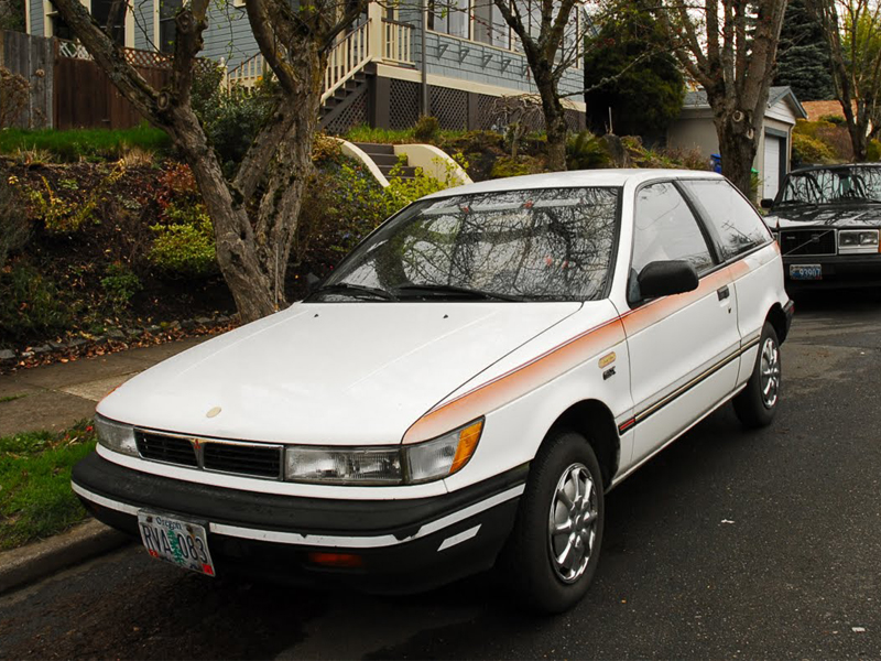 Automotive database mitsubishi mirage 1991 mitsubishi mirage turbo glx 3 door hatchback front view fandeluxe Images
